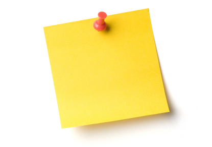 Post it note reminder time management